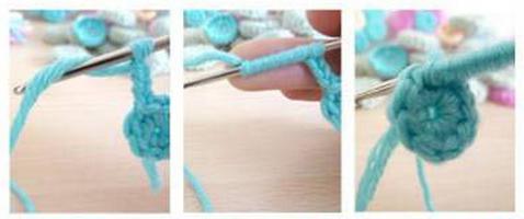 Цветочки крючком для вязания сидушки или коврика (6) (478x200, 203Kb)