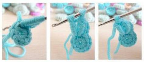 Цветочки крючком для вязания сидушки или коврика (8) (474x204, 216Kb)