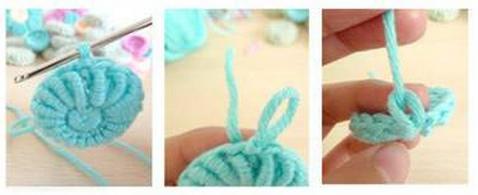 Цветочки крючком для вязания сидушки или коврика (10) (478x195, 210Kb)