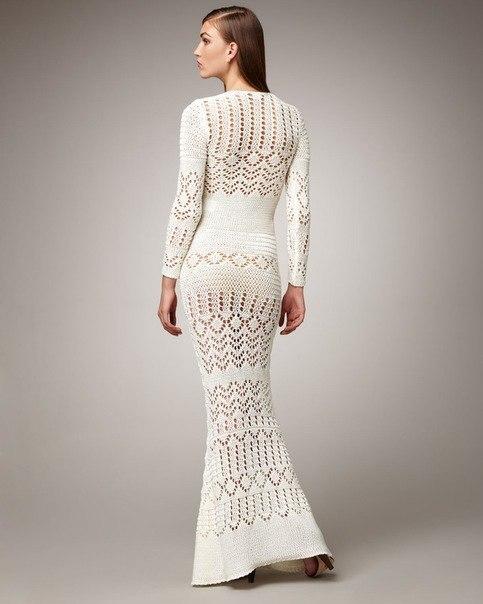 связать длинное платье