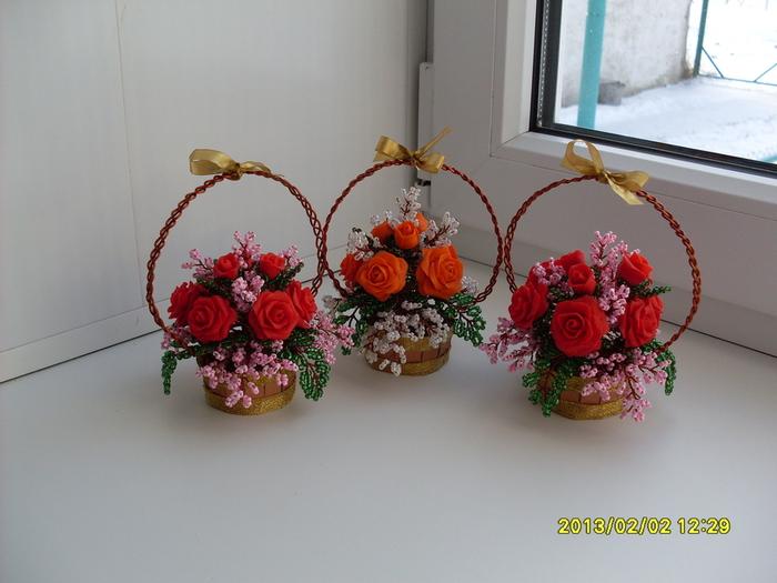 Поделки из бисера своими руками цветы фото - Volvo-sklad.ru