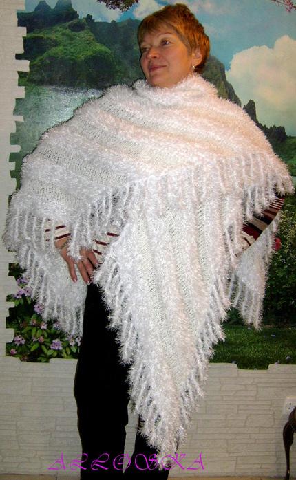 шаль снегурочка (430x700