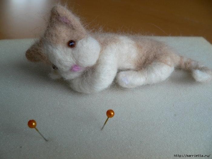 Кошачья шерсть для техники мокрое валяние (18) (700x524, 161Kb)