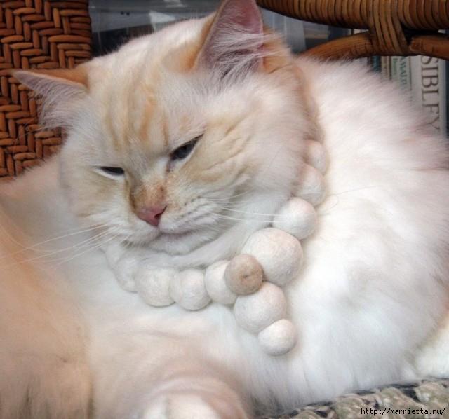 Кошачья шерсть для техники мокрое валяние (26) (640x598, 187Kb)