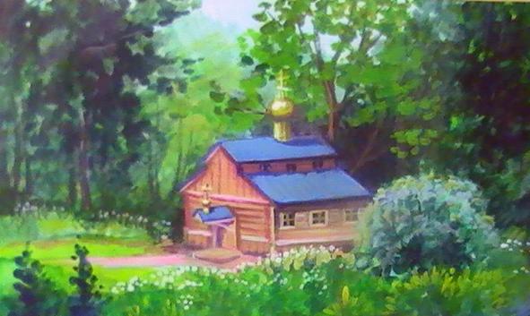 Т. Крагель. Часовня Николая Угодника (591x353, 199Kb)
