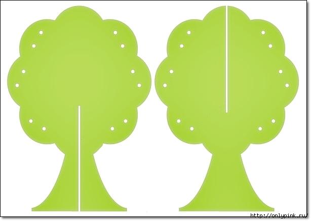 Объемное дерево на картоне