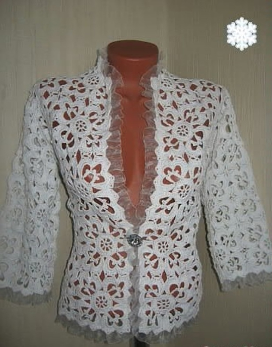 Вязание платьев со схемами и описанием 6