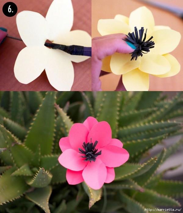 Весенние цветы из бумаги (1) (600x697, 199Kb)