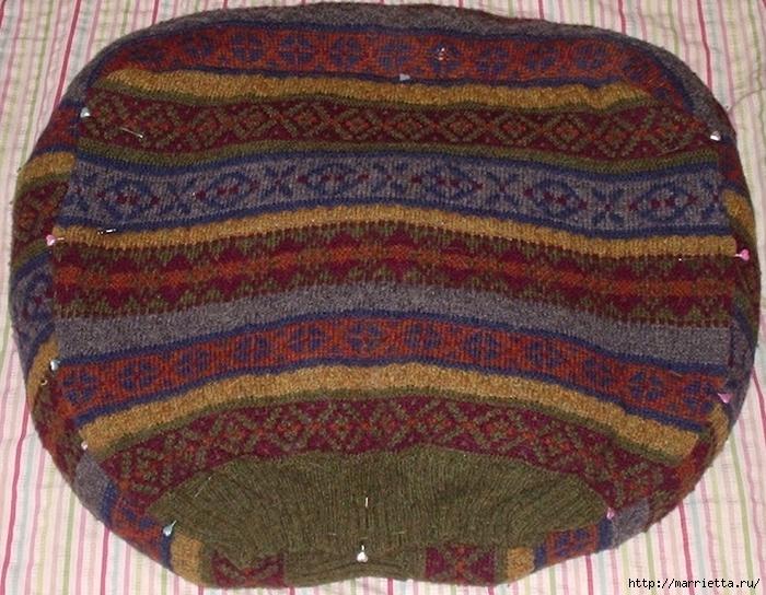 Кроватка для кошки из старого свитера. Мастер-класс (8) (700x544, 351Kb)