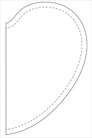Как сшить подушку ВАЛЕНТИНКУ. Выкройка валентинки (2) (300x448, 25Kb)