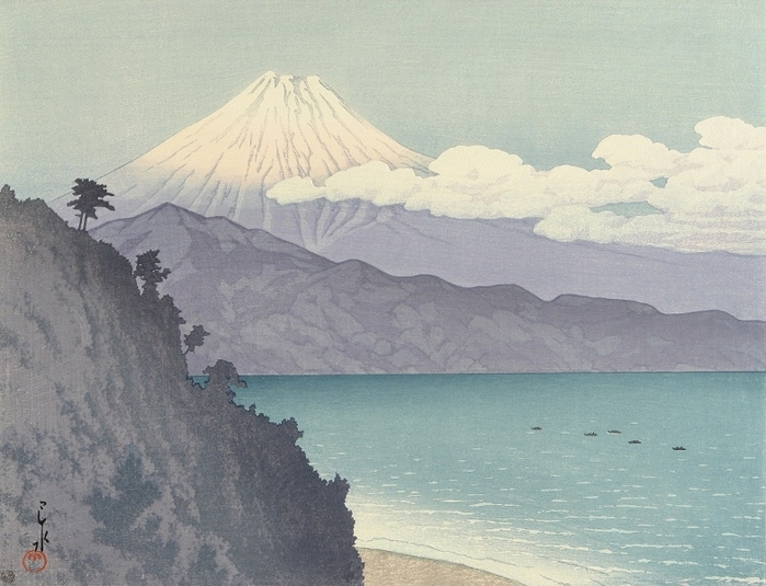 Hasui Kawase 1883-1957 - Mt. Fuji from Satta Pass (700x535, 258Kb)