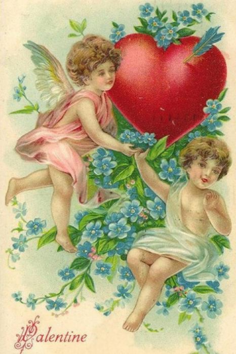 70261027_victorianvalentinescardstwocherubsblueflowersheart (466x700, 386Kb)