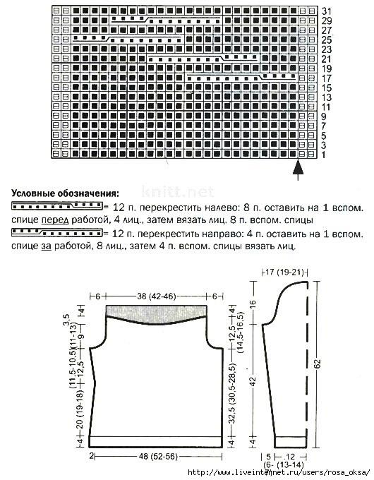 pulover-spicami-s-obemnymi-kosami-shema (530x680, 223Kb)