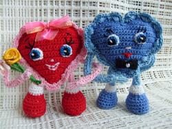 вязаные сердечки валентинки сердечки на день всех влюбленных святого Валентина как связать сердечко на день святого валентина, сзема вязания сердечек,/4682845_ (250x188, 61Kb)