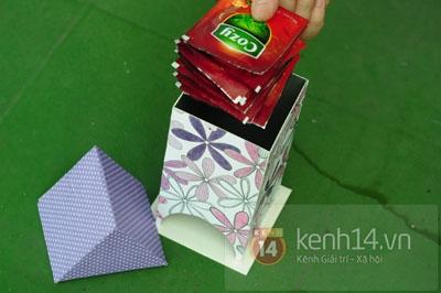 Cartón.  Casa en bolsas de té.  Master Class (10) (400x266, 80Kb)