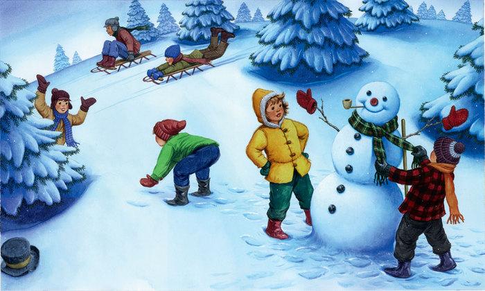 Зимний детские картинки