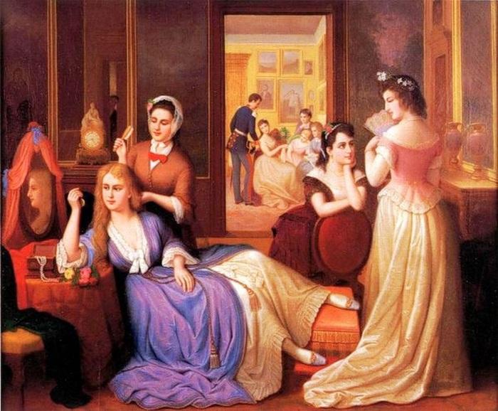2Henry Bebie (1824 – 1888)Ñonversation-group of baltimore girls (700x578, 150Kb)