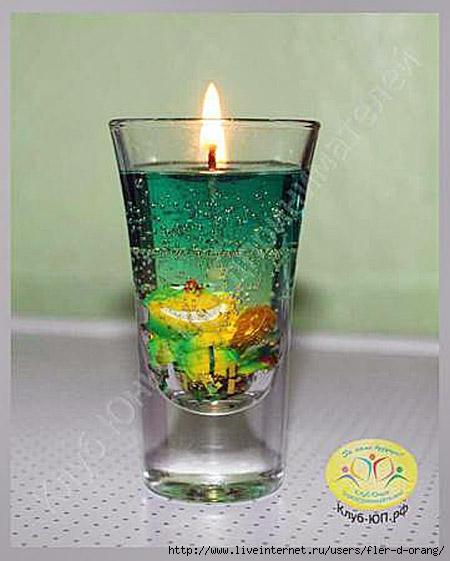 Делаем гелевые свечи своими руками