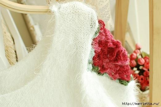 Роза на плече. Цветочная идея для вязаного пуловера (29) (521x348, 107Kb)