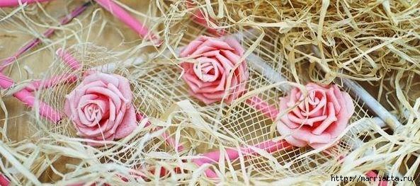 бамбуковая валентинка с розочками и ковылью (2) (593x263, 143Kb)