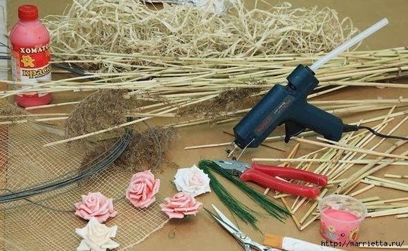 бамбуковая валентинка с розочками и ковылью (4) (590x363, 189Kb)
