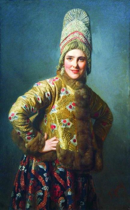 1Вениг Карл Богданович 1830-1908-Женский портрет (433x700, 119Kb)