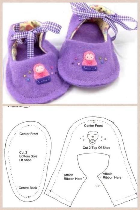 Простая обувь для куклы своими руками 34