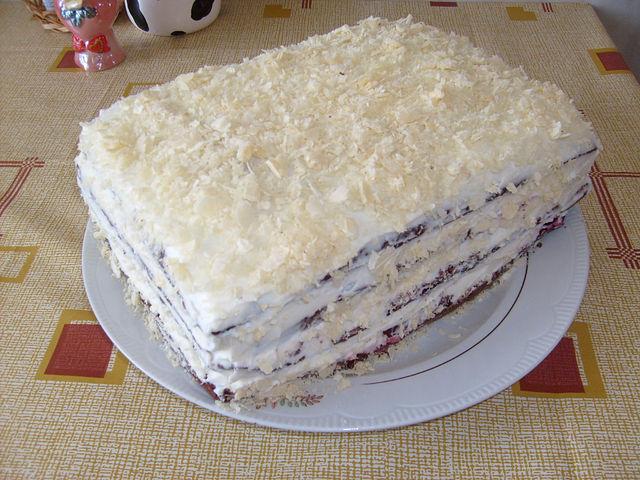 Торт сметана и кефир