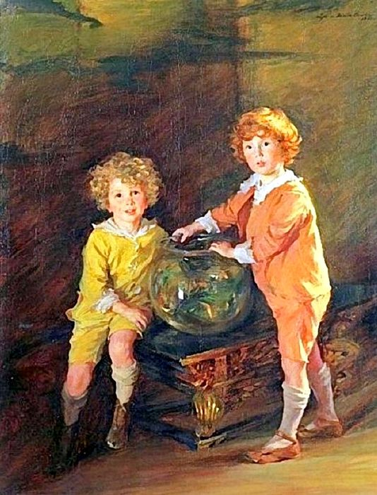 2Lydia Field Emmet (1866 – 1952) Goldfish, a Portrait of Roland and Peter Hazard (534x700, 86Kb)