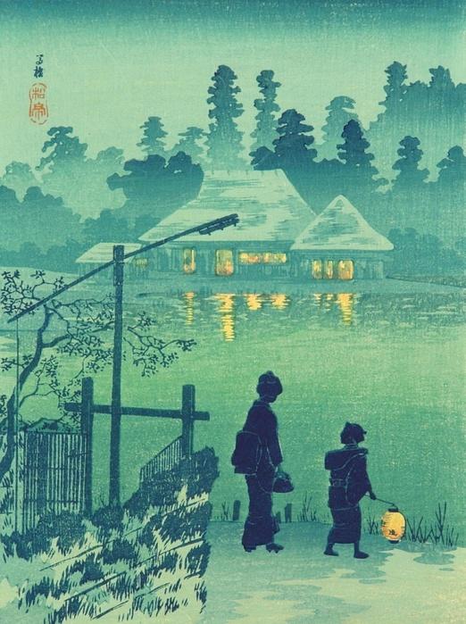 Копия Hiroaki (Shotei) Takahashi 1871-1945 - Lakeside House (522x700, 177Kb)