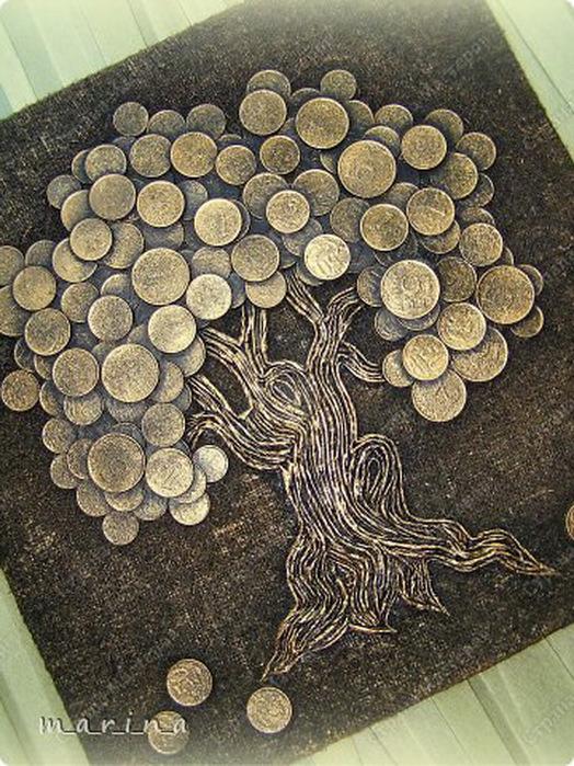 Как сделать дерево с монетами мастер класс