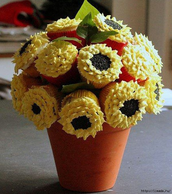 sunflowercupcakebouquet (600x676, 252Kb)