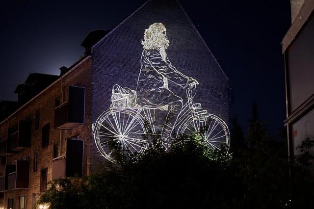 картинка на ночь велосипед