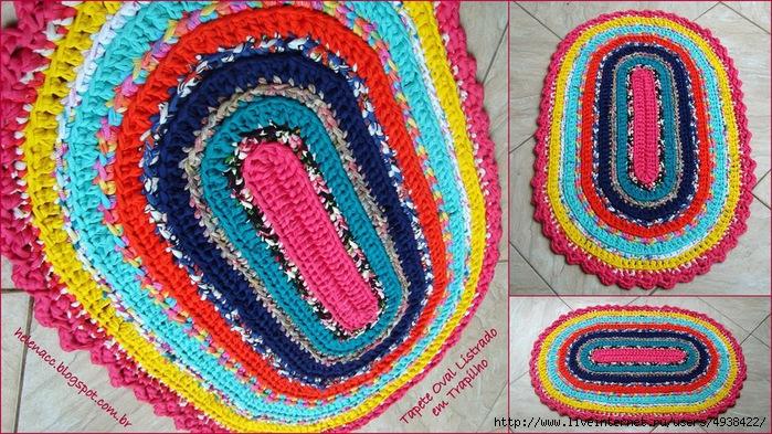 钩针:椭圆形仿古地毯 - maomao - 我随心动