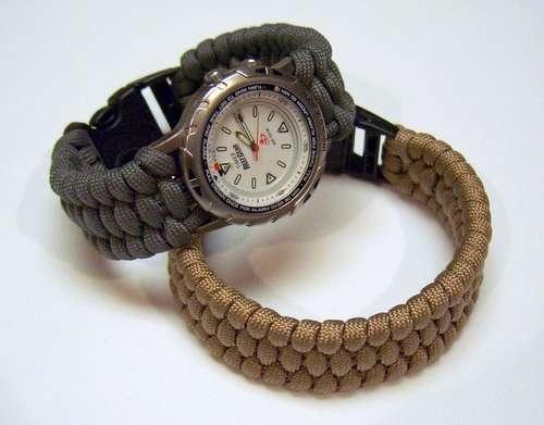 Подарок для брутального мужчины. Ремешок для часов или браслет выживания ПАРАКОРД (5) (500x391, 67Kb)