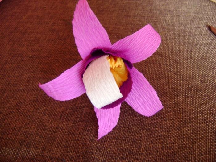 Орхидея из гофрированной бумаги. Мастер-класс (10) (700x525, 312Kb)