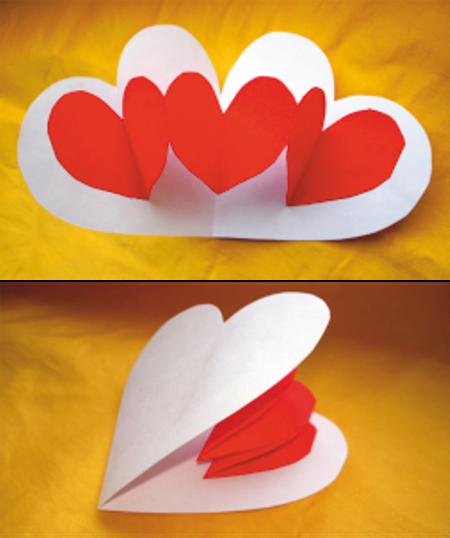 Валентинки своими руками на бумаге