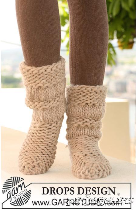 Плотное вязание носков на 2