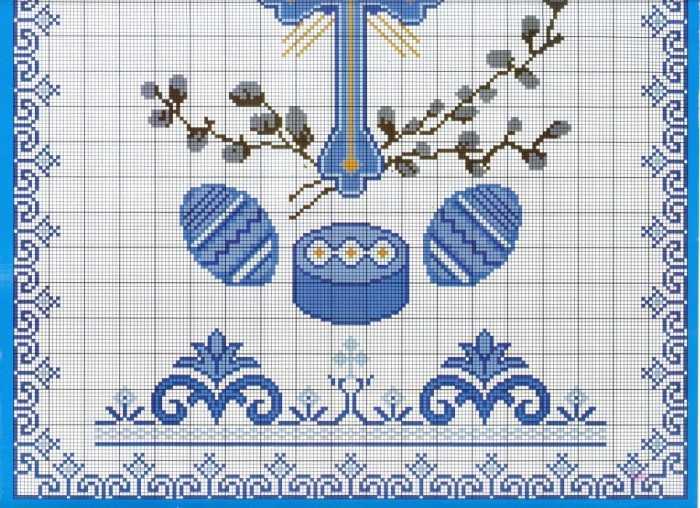 схема вышивки рушника к пасхе2