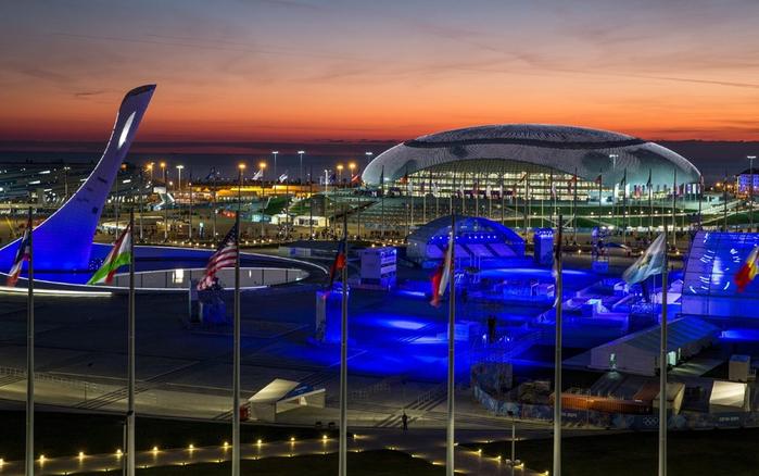 Церемония открытия зимних олимпийских игр в Сочи, стадион 'Фишт', 07 февраля 2014 года