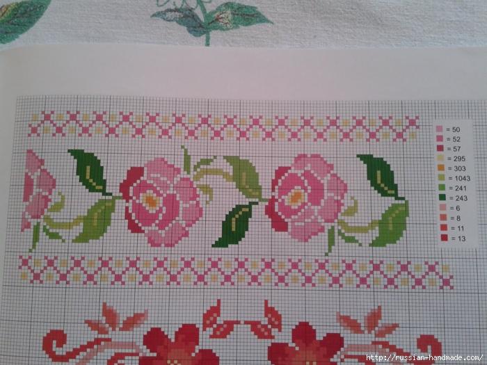 Схемы цветочной вышивки крестом для салфеток (2) (700x525, 287Kb)