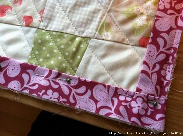Окантовка одеяла в стиле пэчворк мастер