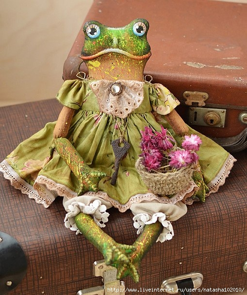 Текстильная царевна лягушка мастер класс