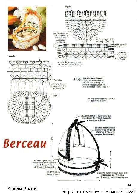 Связать коляску крючком схема