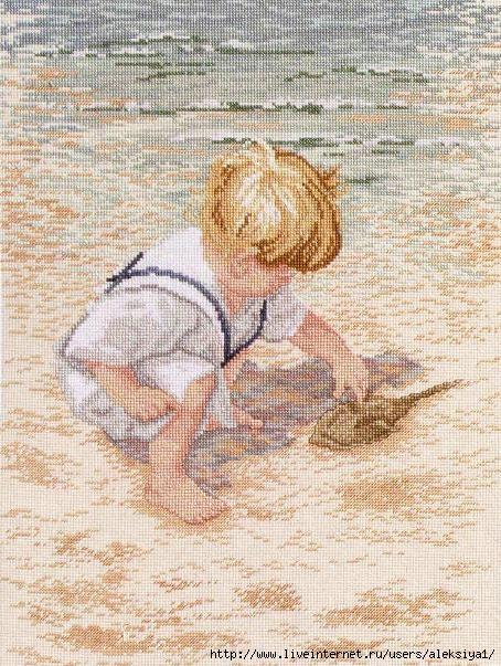 Janlynn 029 047 Boy With Horseshoe Crab (454x603, 257Kb)