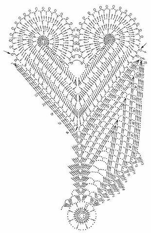 сердечки и листики(схема) (310x480, 112Kb)