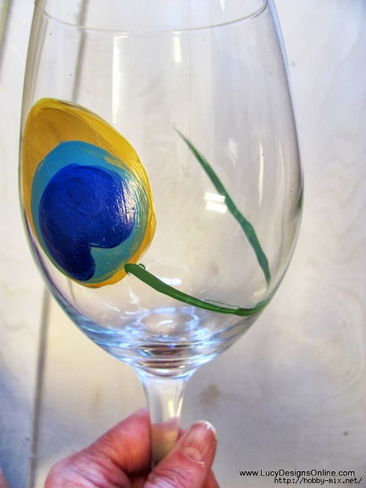 peacock wine glasses 008 (525x700, 202Kb)