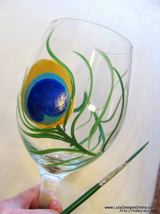 peacock wine glasses 009 (525x700, 216Kb)