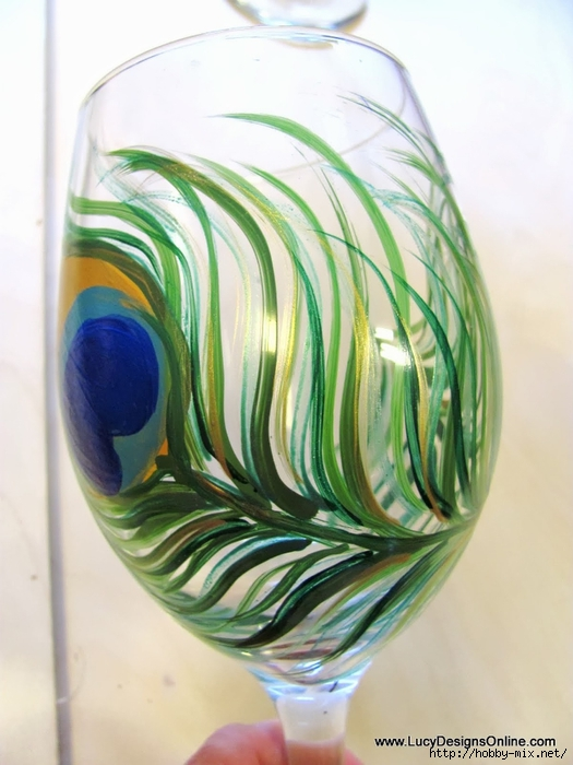peacock wine glasses 022 (525x700, 227Kb)