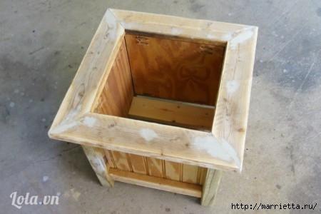 Деревянная кадка для цветов. Своими руками для сада (11) (450x300, 72Kb)